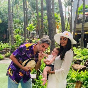 Франц од Нокаут со сопругата и ќерката на одмор на Хаваи
