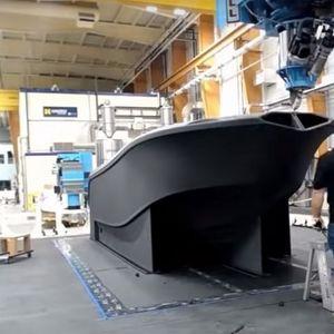 Најголемиот 3D-печатач на светот го отпечати најголемиот брод