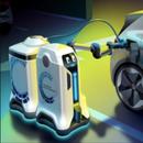 Робот на Volkswagen наоѓа електричен автомобил на паркинг и го полни