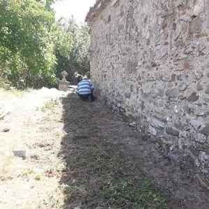 Дниве беше спроведен акција чистење на црквата Св. Преображение во село Ербeле, областа Полени, Маќелара