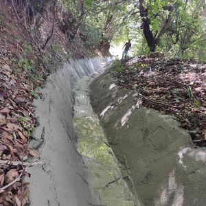 Админстративната единица Стеблево, областа Голо Брдо ја подобрува каналската мрежа за одводнување