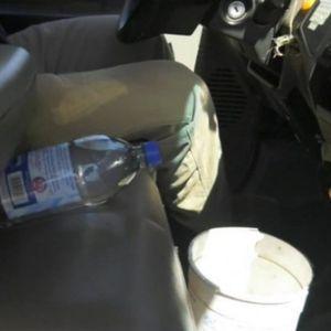 Оставил пластично шише со вода во автомобилот и не го очекувал тоа што се случило