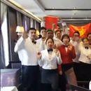 """Македонски капетан со целиот тим на бродот од Пацификот со поддршка за ракометарите: """"Една е Македонија"""""""