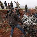 Syrian military helicopter shot down as fighting intensifies