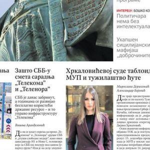 """Novine: """"Nemanja ponovo među Srbima""""; """"Novi uslovi Grka za srpske turiste"""""""
