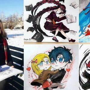 """Интервју со Сара Вукелиќ:""""Обожавам да цртам јапонски ликови, а можам да цртам и по 7 часа"""""""