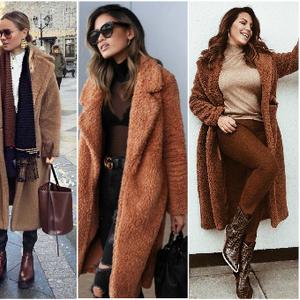 Крзнен капут во боја на карамела – модно парче кое вреди да го грабнете на попуст