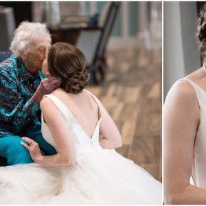 Емотивни фотки од внуката-невеста како ѝ ја исполнува последната желба на својата баба