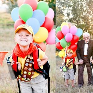 """90-годишни баба и дедо го израдувале нивниот правнук со роденденска фотосесија како од цртаниот филм """"Up"""""""