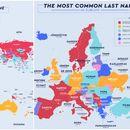 Мапа со најчестите презимиња во земјите низ светот – Кое е кај нас?