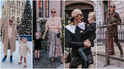 Предлог зимски аутфити од блогерката со модно усогласени ќеркички