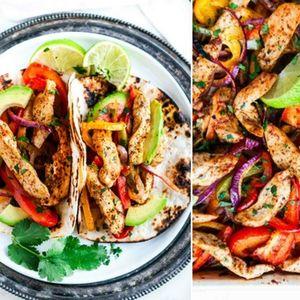 Ручек во едно тавче – фахитас со пилешко месо, лимон и зеленчук