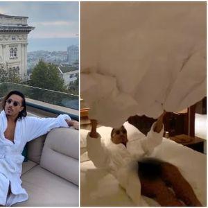 Нусрет (Salt Bae) објави видео од неговиот нов луксузен хотел - фановите забележаа незгода со бањарката