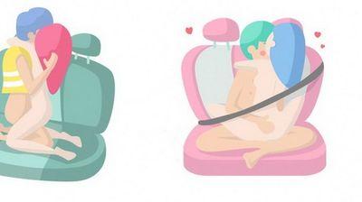 20 илустрирани секс-пози за во автомобил (18+)