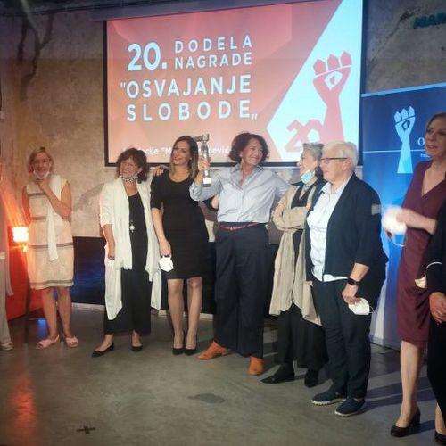 """Nagrada """"Osvajanje slobode"""" uručena Vesni Rakić Vodinelić"""