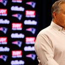New England Patriots coach Bill Belichick leaves press conference after five Antonio Brown questions