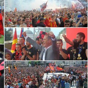 """Најголемиот """"митинг"""" за Вардар – пречекот на прваците кој вечно ќе се памети!"""