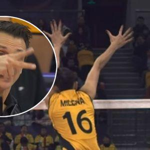 """Неверојатен момент: Одбојкарка """"блокираше"""" со косата, тренерот ѝ се закани - ќе те потстрижам!"""