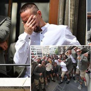 Цел Минхен ги поздрави шампионите, Рибери плачеше при простувањето