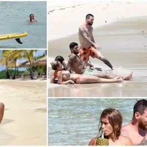 Меси и Суарез со семејствата уживаат во рајски одмор на Карибите