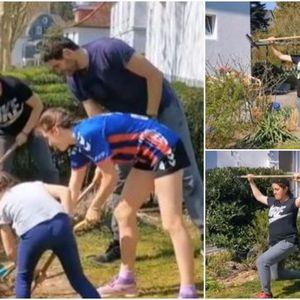 """Како Јоновски """"тренира""""... со цело семејство, копаат во двор!"""