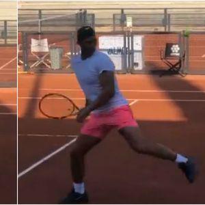 """Надал како големиот Марадона – прави фудбалски """"магии"""" со тениското топче"""