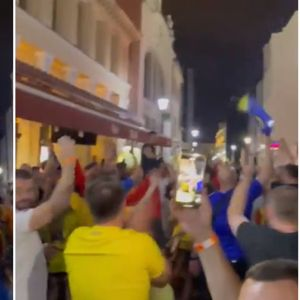 Украинските фанови покажаа почит со скандирање на името на нашата држава
