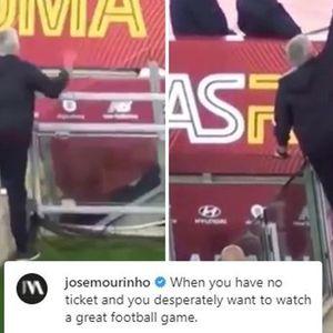 Мурињо се шегува на сопствена сметка: Кога немате билет и сакате да гледате одличен меч... (ВИДЕО)