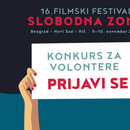"Konkurs za volonterke i volontere filmskog festivala ""Slobodna zona"""