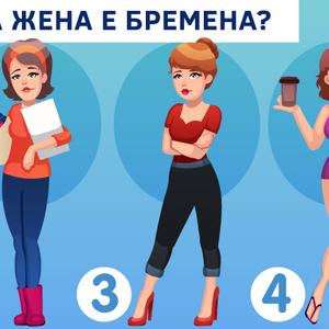 Тестирајте ја вашата способност за забележување: Која жена е бремена?