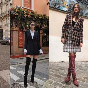 Стилски модни комбинации во кои доминираат чизмите над колена