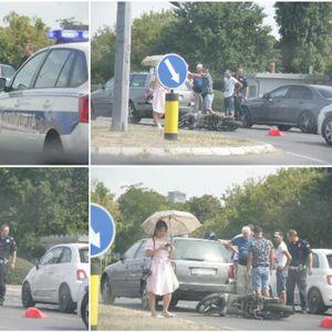 KURIR NA LICU MESTA, SAOBRAĆAJKA KOD UŠĆA: Auto oborio motor, taj deo grada u kolapsu