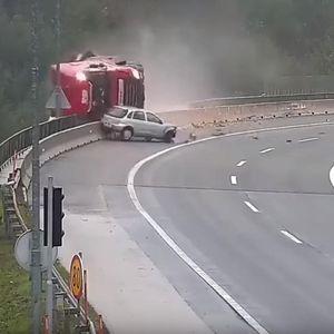MAĐAR ZAROBLJEN U KABINI PAO U PROVALIJU DUBOKU 20 METARA: Snimak nesreće u Sloveniji uznemirio je sve, a stručnjaci kažu da je izbegnuta još veća tragedija (UZNEMIRUJUĆI VIDEO)