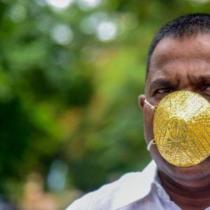 ZLATNOM MASKOM PROTIV KORONE: Indijski biznismen odrešio kesu zbog zdravlja! (VIDEO)