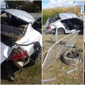 STRAŠAN SUDAR U HRVATSKOJ: Kola završila na ogradi, vozač i suvozač ostali zarobljeni, troje putnika ispalo iz vozila