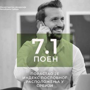 PORASTAO OPTIMIZAM MEĐU PRIVREDNICIMA: 7,1 iznosi indeks poslovnog raspoloženja u Srbiji