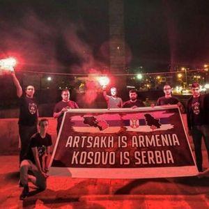KARABAH JE JERMENIJA, KOSOVO JE SRBIJA! Fantastična PORUKA Zvezdi ODUŠEVIĆE Delije: Albanci gledaju i NE VERUJU! FOTO