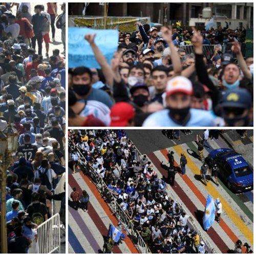 ARGENTINA U SUZAMA! MILION LJUDI NA KOMEMORACIJI MARADONI: Nepregledna kolona navijača koji žele da se oproste od Dijega! VIDEO