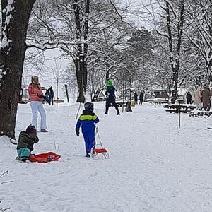 ZIMA, ZIMA, E PA ŠTA JE! Mališani iskoristili poslednji dan raspusta za igrarije na snegu