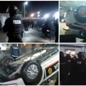 NEZAPAMĆENI SUKOBI POLICIJE I MIGRANATA KOD SARAJEVA: Specijalci došli sa psima da obuzdaju haos, kola prevrnuta, ima povređenih