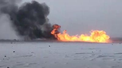 EKSPLOZIJA GASOVODA U RUSIJI: Ogromna vatra i gusti crni dim u Orenburškoj oblasti!