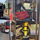ČITAOCI KURIRA JAVLJAJU: Izgoreo autobus na Zvezdari, vatrogasci na terenu
