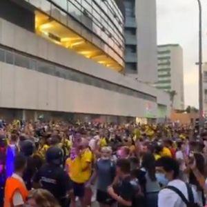GDE VAM JE LEO MESI, GDE VAM JE LEO MESI! Navijači Kadiza posle remija provocirali fudbalere Barselone VIDEO