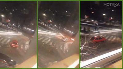 Кочански чалам дрифта на снегот во центарот на градот, а казната стигна експресно брзо