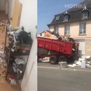 Човекот снима каков хаос оставиле кираџиите во неговиот стан, а потоа ја сними и неговата одмазда