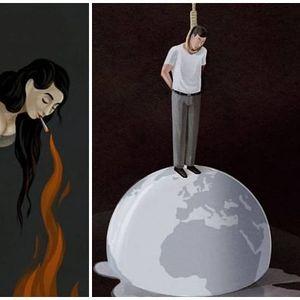 Овие илустрации ја покажуваат тажната вистина зад модерното општество
