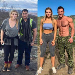 Пар си го трансформираше изгледот со фитнес, девојката ослабе 31 кг за само 10 месеци
