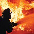 Пожар кај спортското игралиште во Волково
