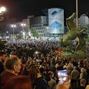 Протест во Белград, упад и во Собранието