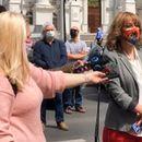 Организаторите на настани протестираа пред Влада, бараат помош поради последиците од пандемијата